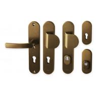 AXA - BETA 2 - bezpečnostní kování,  F4 - bronz elox