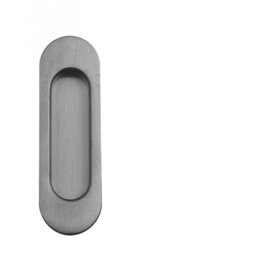 Mušle ovál  - Bez otvoru, BN - broušená nerez
