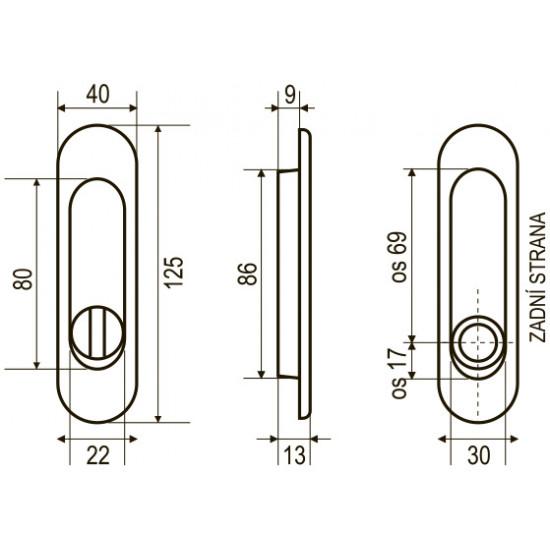 FT - 3665AR - WC, BN - broušená nerez
