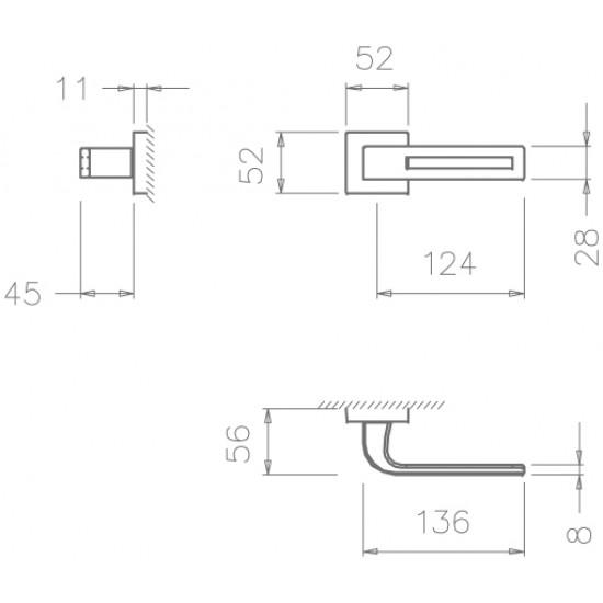 klika TI - CINTO 2 - HR 3044Q, NP - Nikl perla