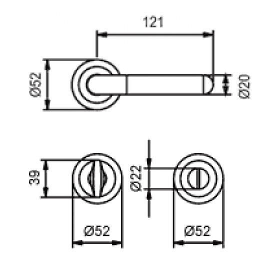 klika TI - DACAPO - R 791, Chrom