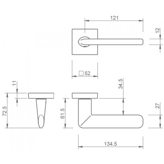 klika TI - ELIPTICA - HR 3098Q, OC - Chrom lesklý