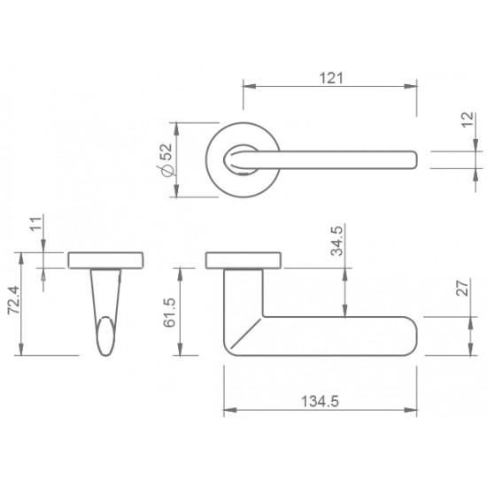 klika TI - ELIPTICA - R 3098, BS - černá mat
