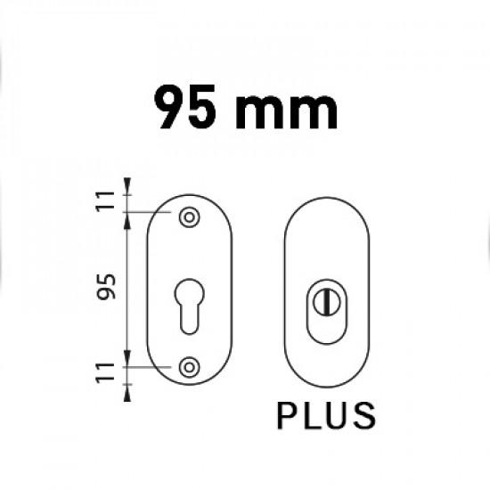 Přídavná bezpečnostní rozeta PLUS ATLAS 2, F9 - nerez elox