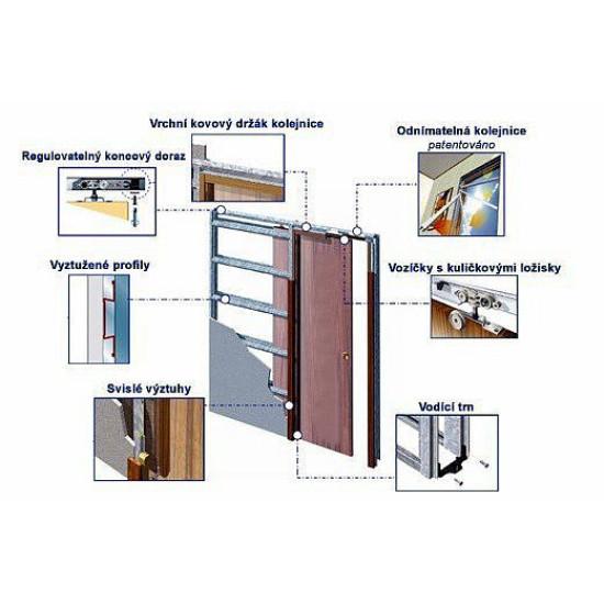 Stavební pouzdro ECLISSE jednokřídlé do sádrokartonu